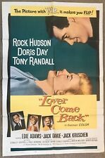 LOVER COME BACK~ORIGINAL 1 Sheet MOVIE POSTER~DORIS DAY, ROCK HUDSON ~ EXCELLENT