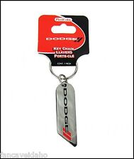 Genuine Dodge Logo Stripes Metal Key Chain Keychain Zipper Pull Ring FOB