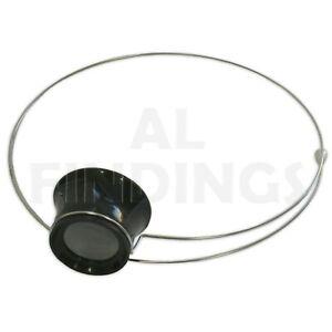 2.5x Jewellers Watchmakers Eye Glass Loupe Headband Check Gold Silver scrap