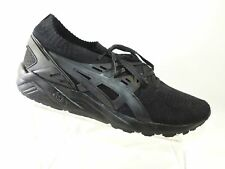ASICS Gel-Kayano Size 11.5 M Black Knit Trainer Sneakers Running Mens Shoes