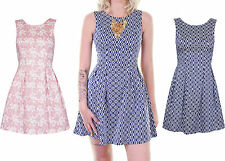 Polyester Geometric Skater Dresses for Women