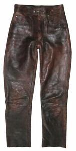 """ HELD "" Damen- LEDERJEANS / Biker- Lederhose in dunkel- braun ca. Gr. 36/38"