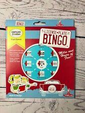 License Plate Bingo Vintage Retro Style Handheld Roadtrip Car Plates Travel Game