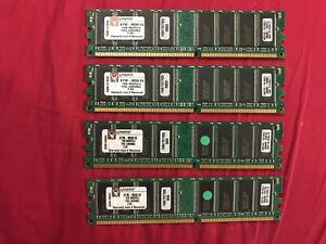 Kingston KTM-M50/1G 4GB 4x1GB DDR PC3200 400MHz DIMM 184-pin Memory