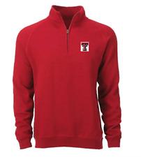 Texas Tech Sweatshirt Mens SZ S/M Fleece 1/4 Zip Jacket Red Raiders Alumni NEW