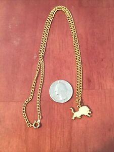 Detroit Lions Team Logo Pendant With Gold tone necklace.