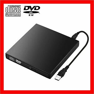 USB External CD RW DVD ROM Writer Burner Player Drive PC Laptop for Mac Windows