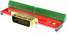 DVI-I Dual Link Male connector Breakout Board, DVI-IM-BO-V1AS eLabGuy VGA