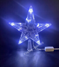"""New 7""""LED Tree Topper Star Christmas Top Xmas Light Up Decorations White Color"""