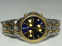 Men's Trumbull Blue Dial Calendar Watch - 10 ATM - Works Great!
