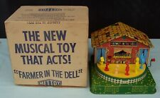 Mettoy Farmer In The Dell Windup Tin Toy with Original Box England c1950/60's