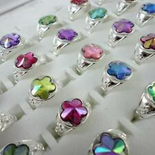 20pcs Multicolor Flower Stone Children Mix Rings Wholesale Jewelry Free Shipping