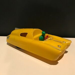Vintage Marx Car of the Future - 1950's Rare Yellow Plastic Friction Space Car