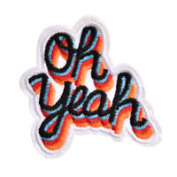 Oh yeah DIY Iron On Patch Embroidered Applique Sewing Label Clothes Stickers_CA