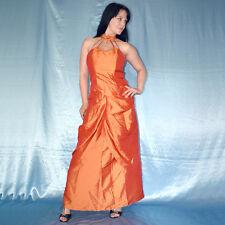 73f9679dd Naranja Satén Cóctel Conjunto con Falda de Noche + Corsé S 36 Vestido Tubo