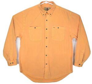 The Territory Ahead Men's Size XL Button Down Shirt VTG Tan