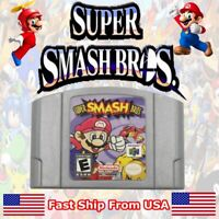 US Super Smash Bros Video Game Cartridge Console Card For Nintendo N64 FAST SHIP