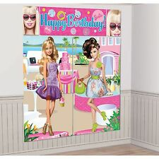 BARBIE BIRTHDAY PARTY SUPPLIES SCENE SETTER WALL POSTER DECORATIONS