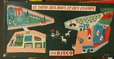 Loto des Bois et des Champs, Djeco, années 50 - Cavahel Vintage