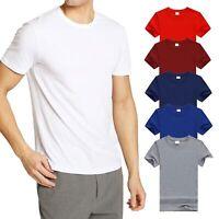 T-shirt Uomo in Cotone Maglia Manica Corta a Girocollo Slim Fit