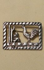 Vintage Taxco Sterling Silver 850 Pin/Brooch Rooster, Cactus, Mexican Sombrero