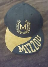 Vintage 1980s University of Missouri Mizzou Tigers Hat Cap Velvet Black and Gold