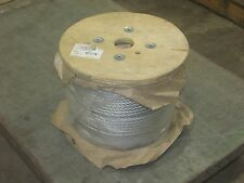"NEW! DAYTON 3/8"" x 500', 7 x 19, GALVANIZED STEEL BRAIDED WIRE ROPE CABLE"