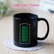 Ceramic Mug Cup Battery Magic Positive Energy Color Changed Coffee Tea Milk Mugs