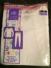 BOBBIE BROOKS Girls XS 4-5 Thermal Underwear Long Johns Set -Shirt & Pants - NEW