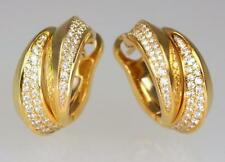 Cartier Yellow Gold Hoop Fine Earrings