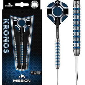 Mission Kronos Steel tip 95% Tungsten Darts - Blue Titanium M1 - 21g