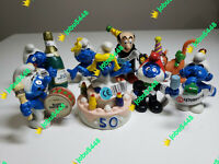 50TH ANNIVERSARY LOT 8 SCHLEICH TOY SMURFS FIGURES SMURF