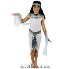Filles enfants cléopâtre reine du nil égyptien costume déguisement 4-12 ans