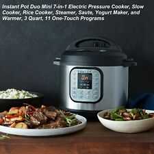 DUO mini 3-Quart 7-in-1 Multi-Use Programmable Pressure Cooker, Slow Cooker, Ric