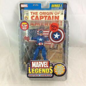 Captain America Marvel Legends Series 1 I Toybiz Action Figure NIB