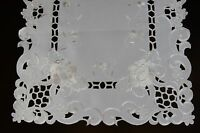 Wedding Bridal Passover Banquet Party Embroidered Lace White Placemat Runner
