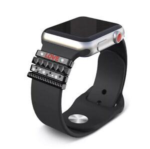 ⭐️ Apple Watch iWatch Smartwatch 4-teiliges Schmuck Set Silikon Armband Nylon ⭐️