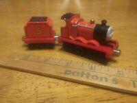 Thomas & Friends  Diecast Train James with Tender 2009 Mattel