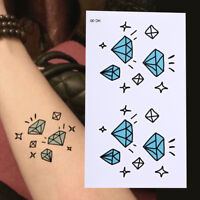 Diamant Body Art Sticker Wasserdicht Abnehmbare Temporäre Totem Tattoo X