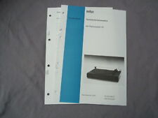 Service Anleitung BRAUN P4 deutsch Service Manual Technische Information P 4