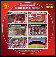 Grenada KB MiNr. 5120-25 postfrisch MNH Fußball, Manchester United (Fuß573