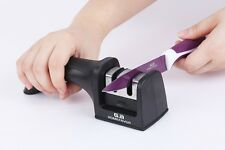 New Professional Ceramic Tungsten KNIFE SHARPENER Kitchen Sharpening System Tool