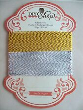 DIY Shop Bakers Twine Silver Gold Glitter, NEW
