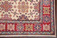 5' x 8' Geometric IVORY Super Kazak Pakistan Oriental Area Rug Hand-Knotted Wool