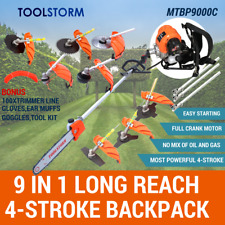 4-STROKE Backpack Pole Chainsaw Garden Pruner Saw Brush Cutter Whipper Snipper