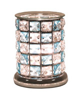 Crystal Blue & Clear Touch Electric Wax Warmer/Burner & pack of 10 Melts (3167)