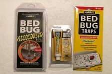 Bed Bug Barrier Tape & traps (4) & bite relief gel Protect from bedbugs New