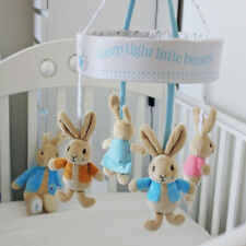 Peter Rabbit Wind Up Musical Cot Mobile Baby Lullaby Player Potter 4 Plush Toys