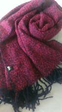 NEW 100% Wool Pink Navy Scarf Soft Warm Rich knitted - A must for Winter