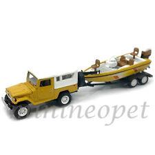 JOHNNY LIGHTNING GONE FISHING JLCP7033 1980 TOYOTA LAND CRUISER 1/64 BOAT YELLOW